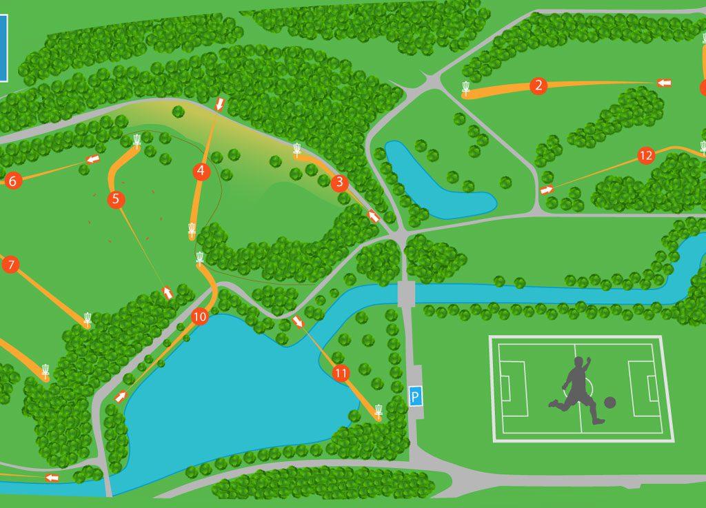 01 Plattegrond Disc Golf Course Stadspark Groningen V2